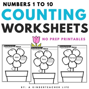 Different Ways to Show a Number 1 -10 Math Flower Power!