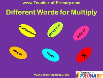 Different Words for Multiply