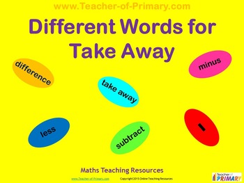 Different Words for Take Away