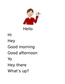 """Different ways to Greet and say """"Yes,"""" or """"No"""""""