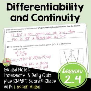 Calculus: Differentiability and Continuity