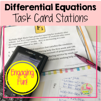 Calculus: Differential Equations Stations Activity