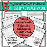 Differentiated 5th Grade Place Value with Decimals