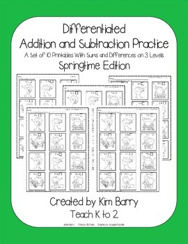 Differentiated Addition and Subtraction Practice- Springti