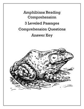 Differentiated Amphibians Reading Comprehension