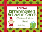 Differentiated Behavior Management Cards - Christmas / Win