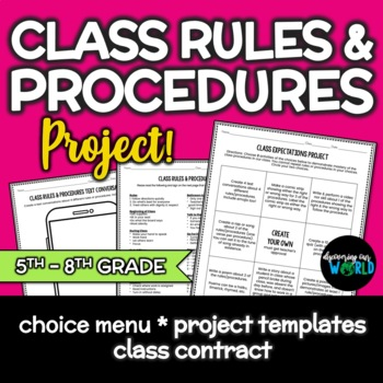Beginning Of The Year Classroom Rules & Procedure Project