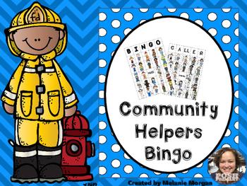 Easy Prep Differentiated Community Helpers Bingo