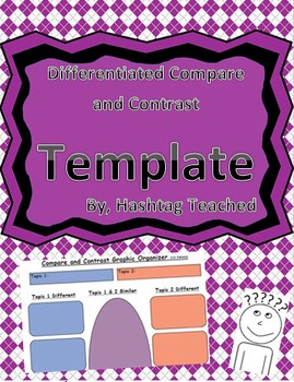 Differentiated Compare and Contrast Graphic Organizer Template