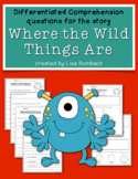 Differentiated Comprehension Questions Where the Wild Things Are