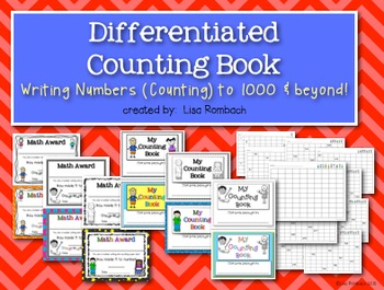 Differentiated Counting Book for Writing Numbers to 1000 a