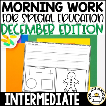 Special Education Morning Work: December Edition {Differen