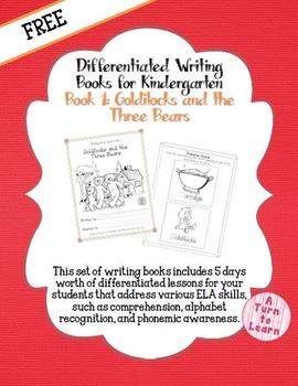 Differentiated ELA Books for Kindergarten, #1: Goldilocks