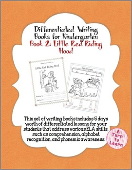 Differentiated ELA Books for Kindergarten, #2: Little Red