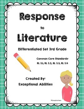 Differentiated Fiction Response (3rd Grade)