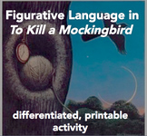 Differentiated Figurative Language Activity--To Kill a Moc