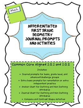 Differentiated First Grade 1.G.1 and 1.G.2 Activities