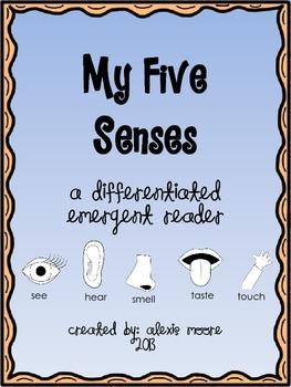 Differentiated Five Senses Emergent Reader