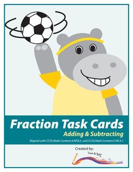 Fraction Task Cards – Differentiated Addition and Subtract