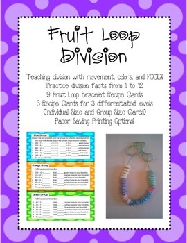 Division Fruit Loop Activity