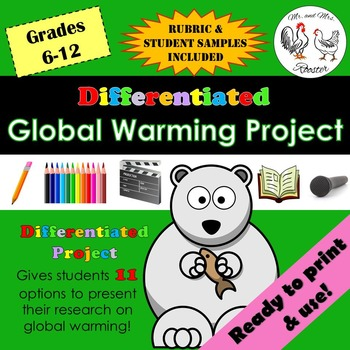 Differentiated Global Warming Project {With Grading Rubric