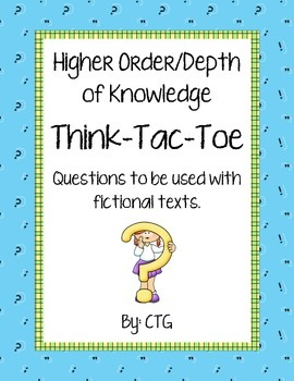 Differentiated Higher Order/Depth of Knowledge Think-Tac-T