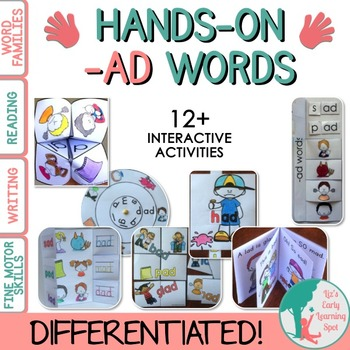 Differentiated Interactive Word Families: Hands-On -AD Activities