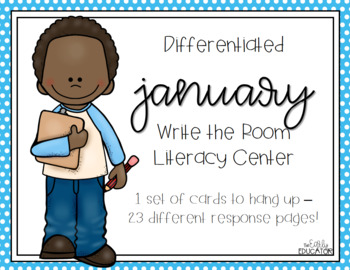 Differentiated January Write the Room Center