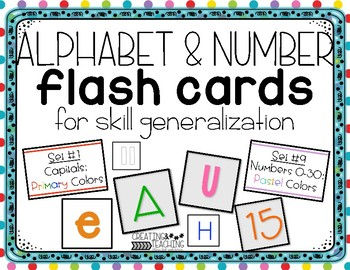 Differentiated Letter and Number Flash Cards