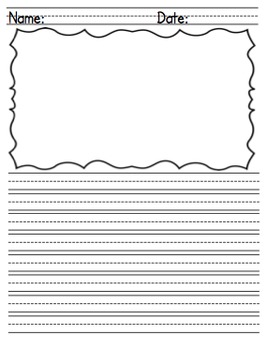 Differentiated Lined Handwriting Paper for Writing and Ill
