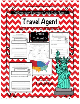 Differentiated Literature Circle Role Sheets: Travel Agent