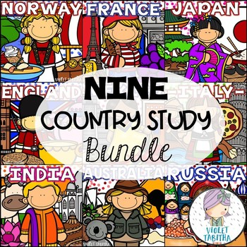 Differentiated Mini Country Books BUNDLE