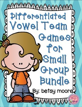 Differentiated Long Vowel Teams Game Bundle for Small Groups