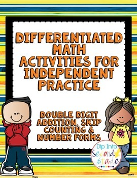 Differentiated Math Boards: 2-Digit Addition, Skip Countin