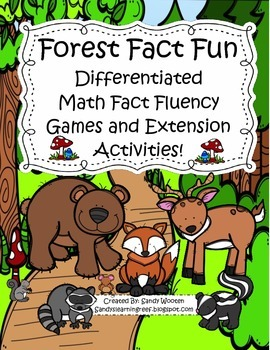 Differentiated Math Fact Fluency Small Group Games and Ext