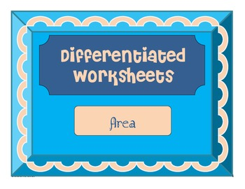 Differentiated Math Instruction - Area Coloring Picture