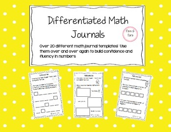Differentiated Math Journals