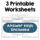 Exponents - Solve for the Variable Worksheets (3 Levels)