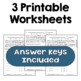 Square Roots of Perfect Squares Worksheets (3 Levels)