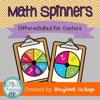Differentiated Math Spinners for Place Value, Addition, &