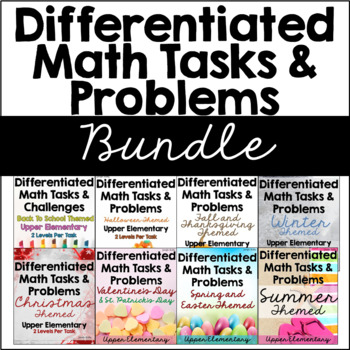 Differentiated Math Tasks {GROWING Seasonal Bundle}