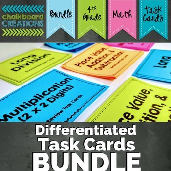 Differentiated Math Word Problem Task Card Bundle