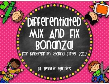 Differentiated Mix and Fix Bonanza! for Kindergarten Readi