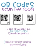 Number QR Codes- Math Around the Room- Plus ten, plus 1, m