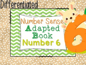 Differentiated Number Sense Adapted Book (Number 6)