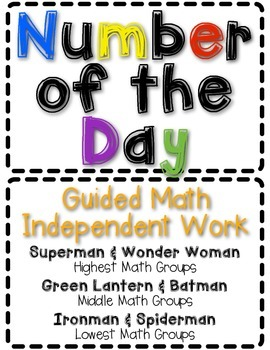 Differentiated Number of the Day Cards Pack