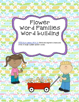 Differentiated Onset/rime flower word building - Common Co