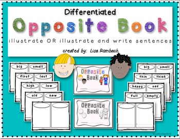 Differentiated Opposite Book to illustrate or illustrate a