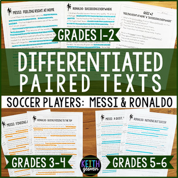 Differentiated Paired Texts: Lionel Messi and Cristiano Ro
