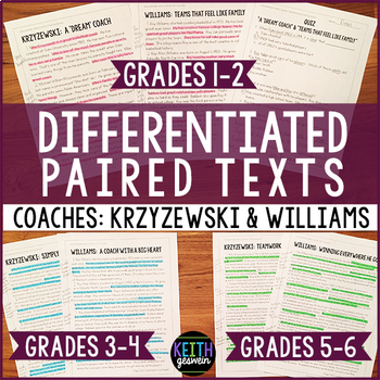Differentiated Paired Texts: Mike Krzyzewski and Roy Willi
